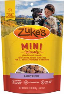 Zuke's Mini Naturals Rabbit Recipe 16oz *REPL 134285