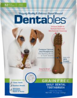 Dentables Grain Free Dental Chews Teenie 32 pk