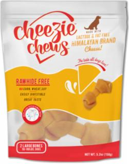 "Cheezie Chews Cheese Knots 5-6""         Large 2 pk"