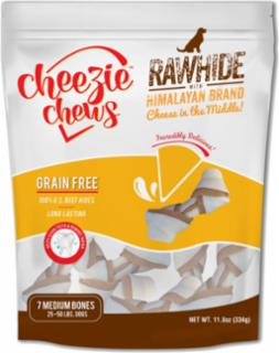 "Cheezie Chews Rawhide Knots w/Cheese 4-5"" - Medium 7 pk"