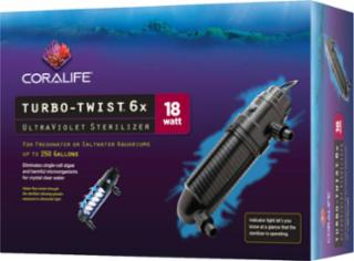 Coralife Turbo Twist UV Sterilizer 6X18 Watts