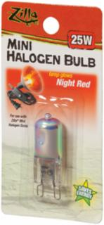 Zilla Halogen Lamp Mini Red 25 Watts