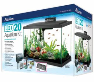 Aqueon Aquarium Kit LED Black 20h Gallon