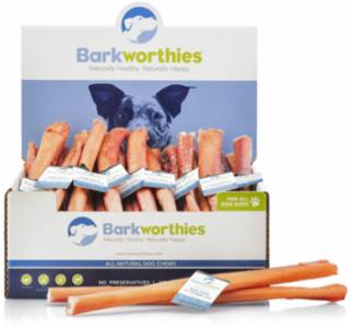 Barkworthies Bully Stick Double Cut Odor Free 12