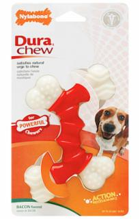 Nylabone Dura Chew Double Bone Bacon Petite