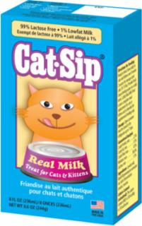 PetAg Cat-Sip Real Milk Treat for Cats & Kittens, 8 fl oz