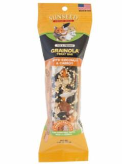 Vitakraft Vita Prima Grainola Coconut & Carrot Treat Bar for Hamster, Rats, Mice and Gerbils 1.85Z *REPL 224033