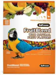 Zupreem Fruit Blend  Large Parrot 12 lb.