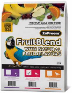 Zupreem Fruit Blend Large Parrot/Conure 17.5 lb.