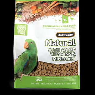 Zupreem Natural Medium/Large Bird 3 lb. Pouch