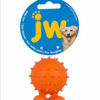 JW Pet Spiky Cuz Small Rubber Dog Toy