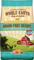 Merrick Whole Earth Farms Grain Free Recipe  Turkey & Duck Cat 5# C=6