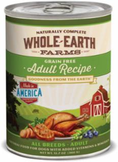 Merrick Whole Earth Farms Adult Dog Cans - 12/12.7 oz.