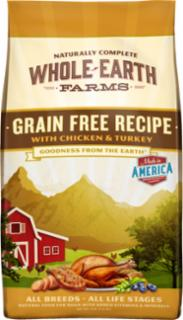 Merrick Whole Earth Farms Grain Free Chicken & Turkey Recipe 25#