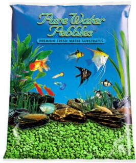 Nature's Ocean Pure Water Pebble Neon Green 5lb 6pk