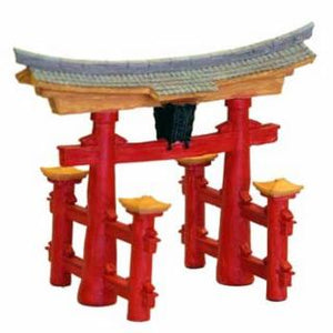 Blue Ribbon Resin Ornament - Asian Creations Japanese Torii Gate
