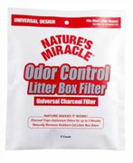 Nature's Miracle Odor Control Universal Charcoal Filter 2PK