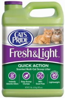 Cat's Pride Fresh & Light Fragrance Multi-cat Scoopable Litter Jug 3/15#