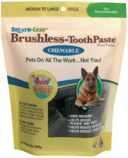Ark Naturals Breath-less Chewable Brushless Toothpaste Medium/Large 18 Ct.