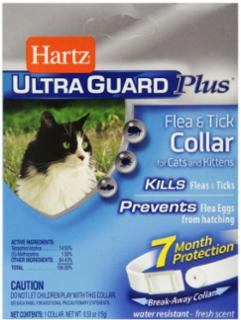 Hartz Ultra Guard Plus Flea & Tick Cat Clr Wte