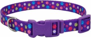 "Coastal 5/8X18"" Adjustable Nylon Paw Print Collar"