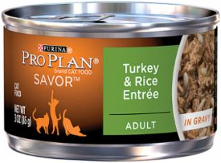 Pro Plan Turkey & Rice Entree for Adult Cats 24/3OZ