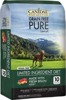 Canidae Pure Land Formula With Fresh Bison Dog Dry 6/4 Lbs *REPL 404334