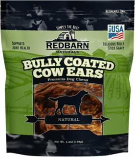 RedBarn Bully Coated Cow Ears 10 pack