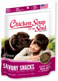 Chicken Soup for the Soul Savory Snacks Beef Dog Treats  6/6Z