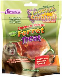 FM Brown Tropical Carnival Natural Chicken Strip Ferret 2z