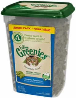 Greenies Feline Dental Treat Tuna Jumbo Tub 11Z