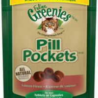 Greenies Feline Pill Pockets Value Size Salmon 3oz