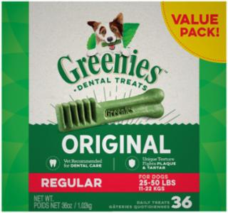 Greenies Dental Chews Value Size Tub 36 oz. Regular