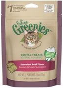 Greenies Feline Dental Treats Succulent Beef - 2.5 oz.