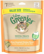 Greenies Feline Dental Treats Oven Roasted Chicken (Value Size) - 5.5 oz.