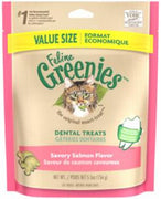 Greenies Feline Dental Treats Savory Salmon (Value Size) 5.5 oz.
