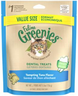 Greenies Feline Dental Treats Tempting Tuna (Value Size) 5.5 oz.
