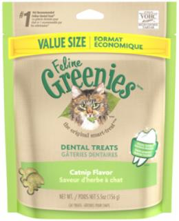 Greenies Feline Dental Treat Catnip 5.5 oz.