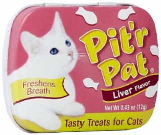 Chomp Pit'R Pat Breath Fresheners For Cats (Liver) .25 oz. Tin