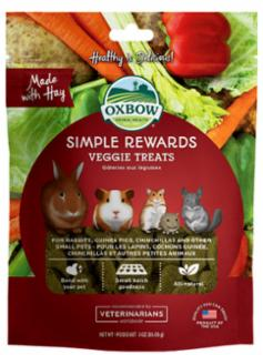 Oxbow Simple Rewards Veggie Treat 3 oz. C=8