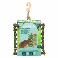 Oxbow Apple Stick Hay Feeder for Small Animal with Wood Hook and Folder