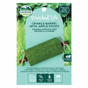 Oxbow Crinkle Barrel with Apple Sticks Small Animal Toy