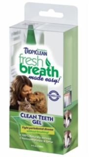Tropiclean Fresh Breath Teeth Gel Kit 4oz.