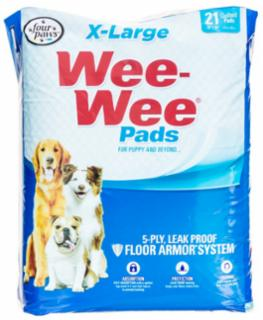 Four Paws Wee Wee Pads Xlarge 21/pk 28