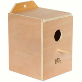 Prevue Parakeet Nest Box Wood (Inside Mount)