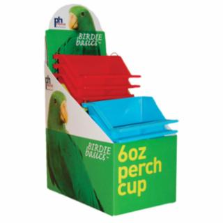 Prevue Birdie Basics 6oz Perch Cups 12pc Display Box