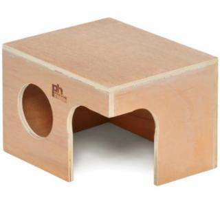 Prevue Wooden Rabbit Hut Hideout 14x9x18