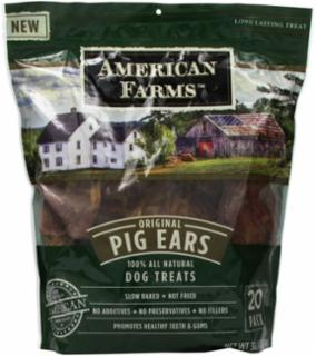 American Farms Pig Ear Bagged - Natural - 38.4 oz. Bagged