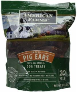 American Farms Smoked Pig Ear 38.4Z Bagged
