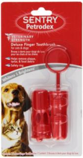 Sentry Deluxe Finger Toothbrush Dog/Cat
